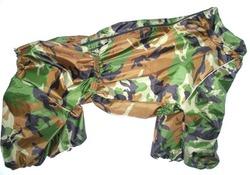 ZooTrend Дождевик для крупных пород собак, зеленый камуфляж, размер 7XL, спина 80см