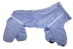 ZooTrend Дождевик для больших пород собак, серо/сиреневый, размер 4XL, спина 55см