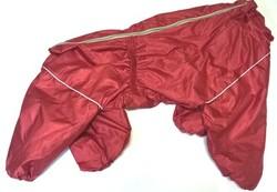 LifeDog Дождевик для больших пород собак, красный, размер 6XL, спина 66см
