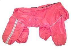 LifeDog Дождевик для больших пород собак, розовый, размер 4XL, спина 55см