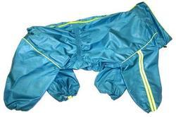 LifeDog Дождевик для больших пород собак, бирюза, размер 4XL, спина 55см