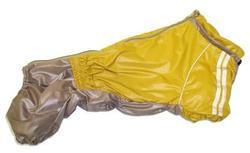 LifeDog Дождевик для средней таксы, бежевый, размер №2, спина 40-43см