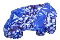 LifeDog Дождевик для мопса, синий, размер 5, спина 32-35см