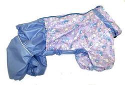 LifeDog Дождевик для средних пород собак, голубой/сиреневый, размер 2XL, спина 40-45см.