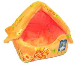 """DOGMAN Домик-лежак """"Фурор"""" оранжевый, размер 40х40х40см"""