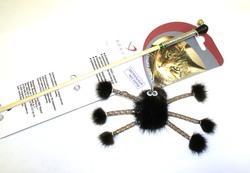 """DOGMAN Игрушка для кошек Дразнилка """"Норковый паук на веревке"""""""