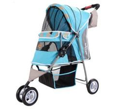 IBBI Коляска New I-Cute Pet Buggy голубая, 80 х 90 х 32 см