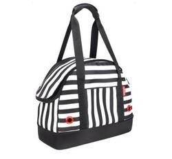 IBBI Мягкая сумка-переноска для собак 40х18х32 см черно-белая полоска