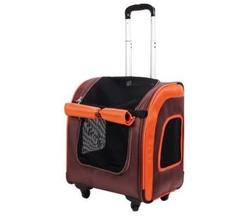 IBBI Сумка-тележка Liso прямоугольная 40 х 31 х 44 см, коричневая/оранжевая