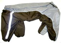 ZooPrestige Дождевик для крупных пород собак, серо/коричневый, размер 8XL, спина 72см