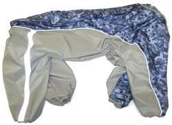 ZooPrestige Дождевик для крупных пород собак, серо/синий камуфляж, размер 8XL, спина 72см