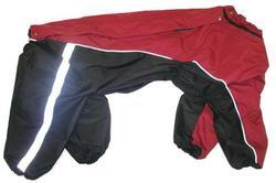 ZooPrestige Дождевик для крупных пород собак, черно/красный, размер 8XL, спина 72см