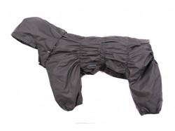 ZooPrestige Дождевик для средних пород собак Дутик, серый, размер 2XL, спина 44см
