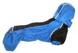 ZooPrestige Дождевик для таксы, голубой/черный, размер ТМ2