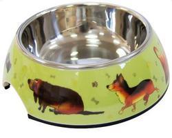 SuperDesign Миска на меламиновой подставке Собачки 0,16 л