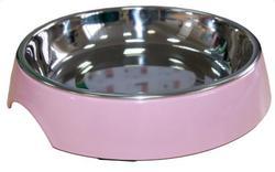 SuperDesign Миска на меламиновой подставке широкая 250 мл, розовая пудра