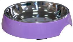 SuperDesign Миска на меламиновой подставке широкая 250 мл, сиреневая