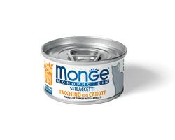 MONGE Cat Monoprotein хлопья для кошек из индейки с морковью 80г