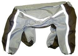 ZooPrestige Дождевик для крупных собак, серо/коричневый, размер 7XL, спина 65см