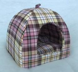 Бобровый дворик Лежак Домик для собак и кошек, розовая клетка