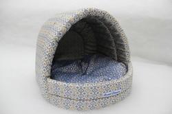 Бобровый дворик Лежак для собак и кошек ЭСТРАДА «СЛАДКИЙ СОН» Дамаск синий