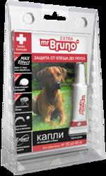 М.Бруно Капли инсектоакарицидные Eхtra для собак от 20 до 40кг/ 2,9мл с 5-ти месячного возраста