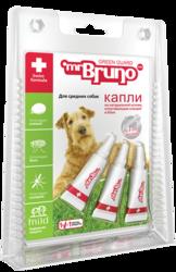 М.Бруно Капли репеллентные для средних собак 10-30кг 2,5мл, 3 пипетки
