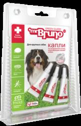 М.Бруно Капли репеллентные для крупных собак более 30кг 4,0мл, 3 пипетки