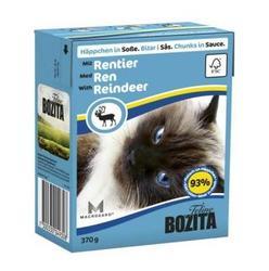Bozita Консервы для кошек кусочки в соусе Оленина 370г