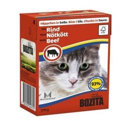 Bozita Консервы для кошек кусочки в соусе Говядина 370г