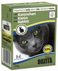 Bozita Консервы для кошек кусочки в соусе Кролик 370г