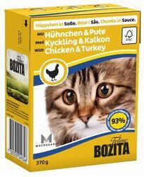 Bozita Консервы для кошек кусочки в соусе Курица/Индейка 370г
