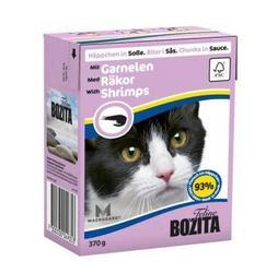 Bozita Консервы для кошек кусочки в соусе Креветки 370г
