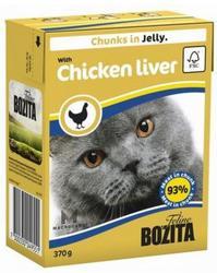 Bozita Консервы для кошек кусочки в желе Куриная печень 370г