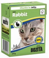 Bozita Консервы для кошек кусочки в желе Кролик 370г