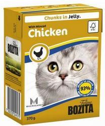 Bozita Консервы для кошек кусочки в желе Рубленая Курица 370г