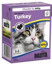 Bozita Консервы для кошек кусочки в желе Рубленая Индейка 370г