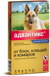 Bayer Bayer Адвантикс 400 С для собак 25-40 кг (4 пипетки х 4 мл)
