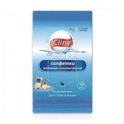 Cliny Салфетки влажные гигиенические для собак и кошек, 10шт
