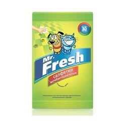 Mr.Fresh Салфетки влажные для лап, 15 шт