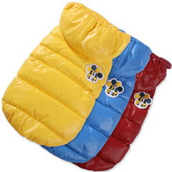 I's Pet Куртка-пуховик теплая, цвет голубой, размер S