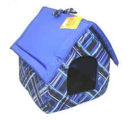 DOGMAN Лежак Будка средняя синяя, микс, размер 35х35х39см