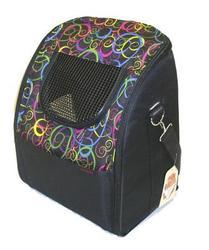 """DOGMAN Рюкзаки для собак и кошек """"Вояж"""", черный микс, размер 38х32х30см"""