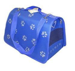 """DOGMAN Сумка -переноска для собак Лира №4 """"Лапки"""", голубая, 48х30х30см"""