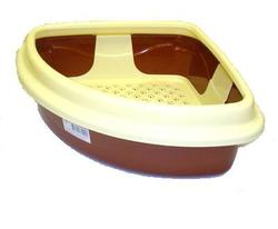 DOGMAN Туалет для кошек Триплекс угловой, 40х40х15см