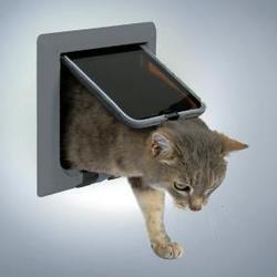 TRIXIE Дверца для кошки 15,8 х 14,7 см, с 4 функциями серая
