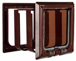 TRIXIE Дверца для кошки DE LUXE, коричневая, размер 16,2 × 17 см