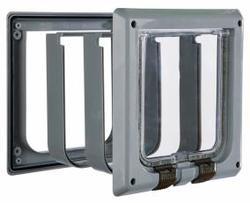 TRIXIE Дверца для кошки DE LUXE, серая, размер 16,2х 17 см