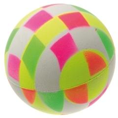 V.I.Pet Игрушка для собак Мяч клетчатый, неон, 6,3см, вспененная резина