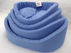 Бобровый дворик Лежак для собак с бортиком Голубой